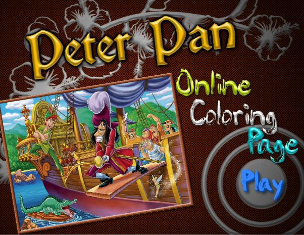 Peter Pan Online Coloring Page