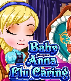 Baby Anna Flu Caring  Game