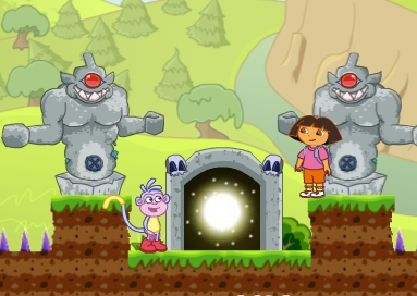 Dora Boots Forest Find Treasure Game
